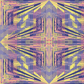 Visionary geometric pattern