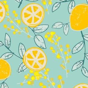 #EllaZitronella Zitronen auf Mint by DIY Eule