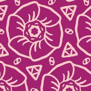Magenta Pink Floral