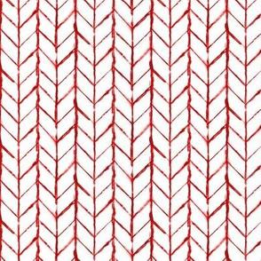 Shibori Braids - Red on White - © Autumn Musick 2020