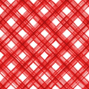 Shibori Check - Red on White - © Autumn Musick 2020