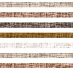 "1/2"" linen stripes // spice, mud, bronze, stone, sugar sand"