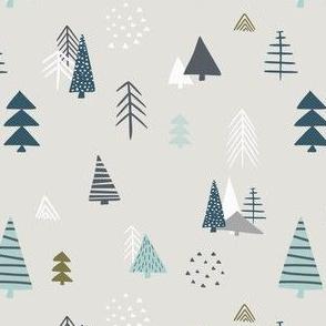 Pine forest in scandinavian design