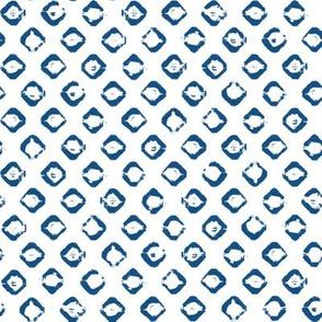 Rough Diamond Stamp - Classic Blue on White - ©Autumn Musick 2020