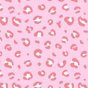 Little spotted leopard dreams panther animal print trend design soft pastel pink