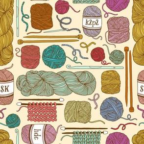 knitting - cream