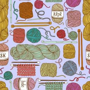 knitting - lilac