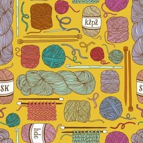 knitting - mustard