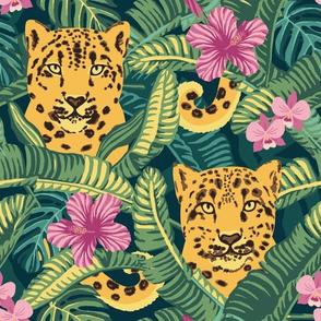 Vintage Leopard Jungle