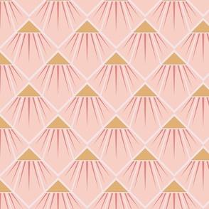 Art Deco Flower - Light Pink