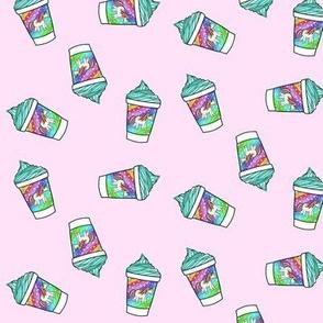 Unicorn gelato milkshake - pink mini