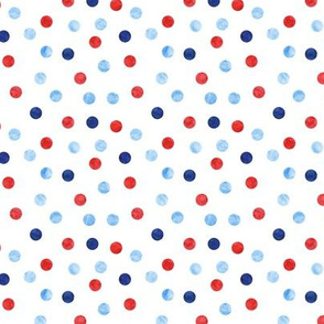 (small scale) polka dot scatter - red white and blue LAD20