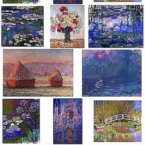 Monet collage 8x8