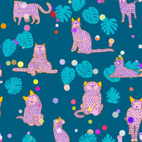 Cats in dots