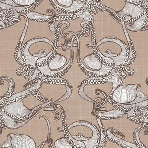 Cephalopod -  Octopi - Brown &Tan