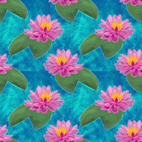 Flipping big water lilies