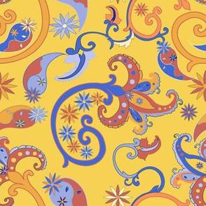 Summery Yellow Paisley