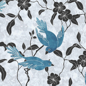 Marble Frieze- Birds and Flowers