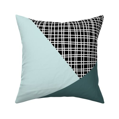 Pine and Mint Throw Pillows 18 inch size mix and match