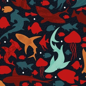 Fishes deep in the Red Sea
