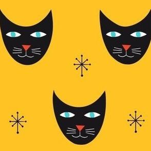 Retro Kitty-Yellow