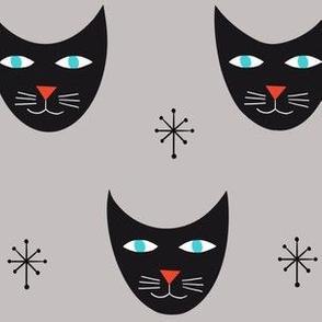 Retro Kitty-Gray