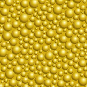 Gold Balls 3D Pattern.