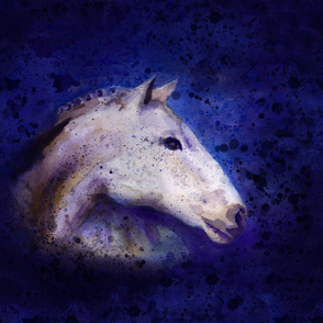 speckled white horse inky