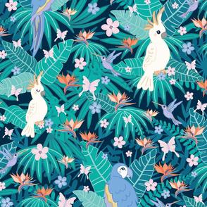 cockatoo & parrots - little jungle world