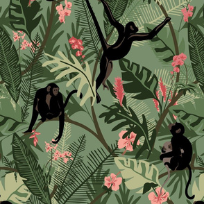 Monkeys - Green - Large