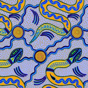 Shaman Serpent - Orange Blue - Large Scale