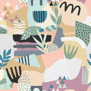 Eclectic Leaves and Abstract Shapes