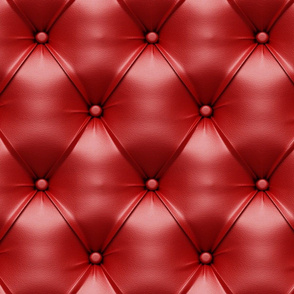 RED TUFTED LEATHER
