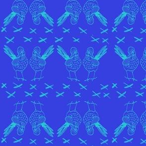 Roadrunners on Royal Blue by DulciArt,LLC