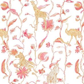 Pink & Gold Floral Safari