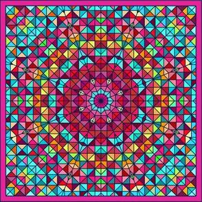 Micro Modern Geometric Shaped Quilt Pattern Mini Design Challenge
