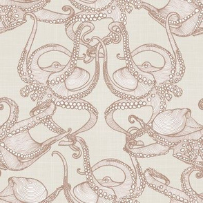 Cephalopod -  Octopi Smaller - Tan & Cream