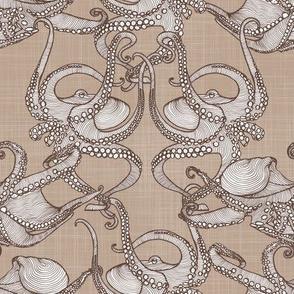 Cephalopod -  Octopi Smaller - Brown & Tan