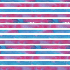 Watercolour stripes in pink, purple and blue