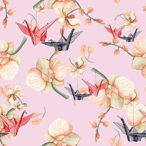 Paper Cranes & Orchids