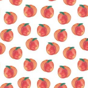 Just Peachy A| Watercolor Peaches|Renee Davis