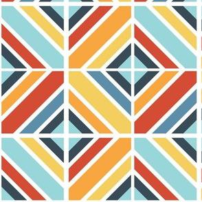Geometric Tiles Primary Colors
