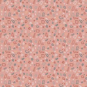 Geometric pattern on pink