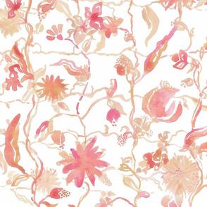 Large Pink & Gold Safari Floral