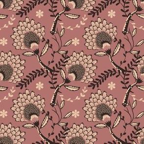 Basic vintage floral | mauve