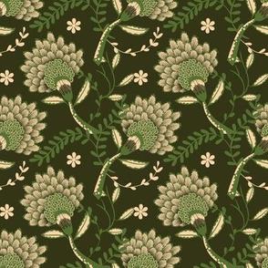 Basic vintage floral | green