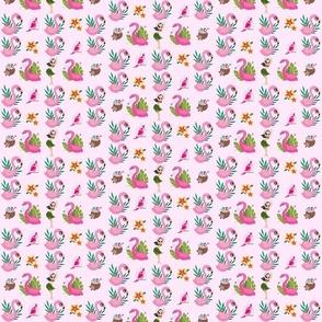 Pink Flamingos Hawaiian
