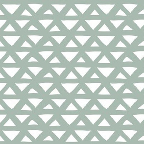 New boho indian summer minimal abstract geometric triangles aztec mudcloth design soft sage eucalyptus neutral green