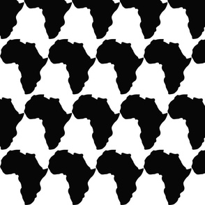african map black and white