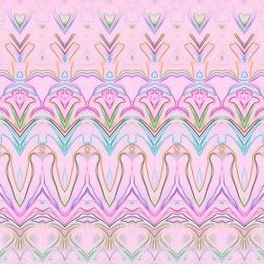 Spring Buds Multi Pink Stripe 03_1x12